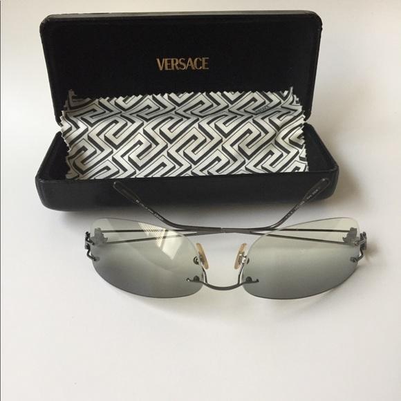 fc9593a89cd7 Vintage Versace Rimless Sunglasses. M 5af1c73f31a376e0396f452e. Other  Accessories ...